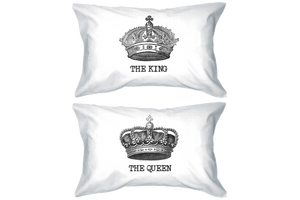 couple pillow cases for queen and king