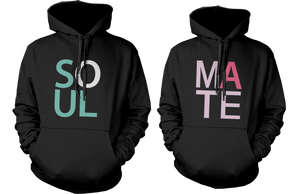 soul mate couple hoodies
