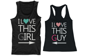 I love this girl and I love this guy couple shirts