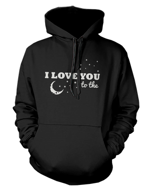 couple hoodie - I love you to the moond and back 365inlove