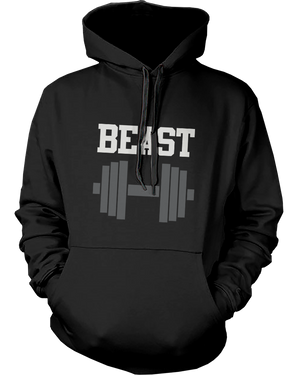 beauty and beast workout hoodies