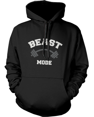 beast mode beauty mode couple hoodies