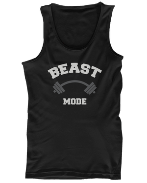 workout couple tanktops beast beauty mode
