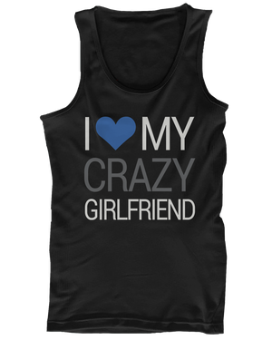 I love my crazy boyfriend and girlfriend couple shirts