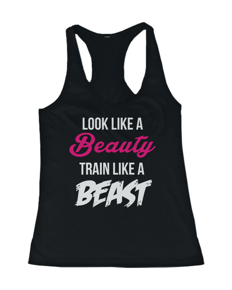 09ca0646d8419a Train Like a Beast and Beauty Matching Workout Tank Top - 365 IN ...
