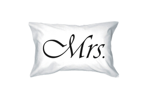 mr and mrs pillow cases couple