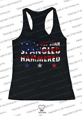 Women's Red White and Blue Tank Tops - Time to get Star Spangled Hammered - 365INLOVE