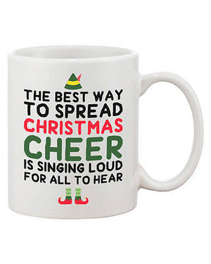 Cute Holiday Coffee Mug - The Best Way to Spread Christmas Cheer 11oz Cup - 365INLOVE