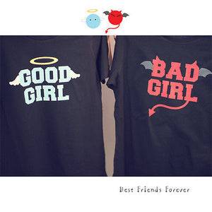 BFF Matching Shirts - Good Girl Bad Girl Best Friends - 365INLOVE