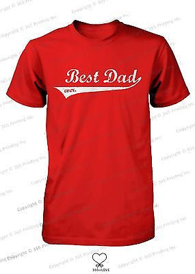 Best Dad Ever Swash Style T-Shirt - Father's Day Gift Idea, Gift for Dad - 365INLOVE