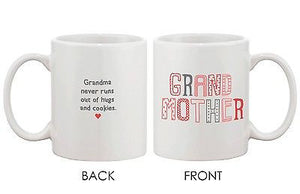 Mother's Day Grandma Coffee Mug for Grandmother - Never Runs Out of Hug Cup - 365INLOVE