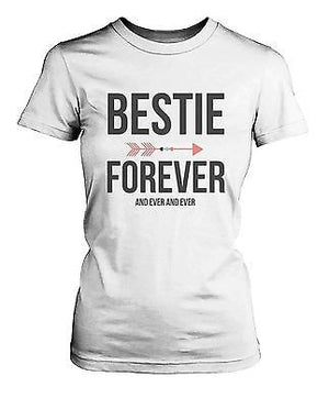 Best Friend Shirts - Bestie Forever and Ever Matching White T-Shirts - 365INLOVE
