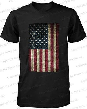 American Flag Men's T-shirt -July 4th Red White and Blue Graphic Tee - 365INLOVE