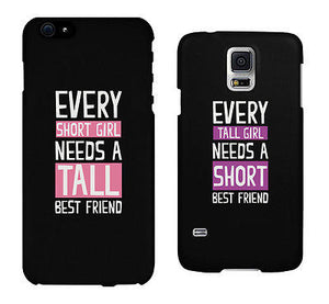 Short And Tall Cute BFF Mathing Phone Cases For Best Friends Gift - 365INLOVE