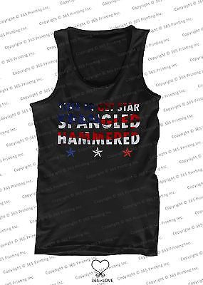 Men's Red White and Blue Tank Tops - Time to get Star Spangled Hammered - 365INLOVE
