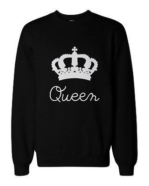 King and Queen Couple SweatShirts Cute Matching Outfit for Couples - 365INLOVE
