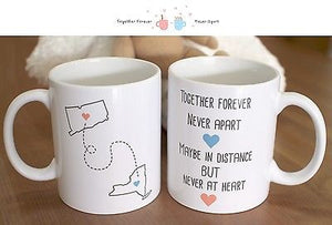 Together Forever Never Apart - Customizable Matching Ceramic Coffee Mugs (MC029) - 365INLOVE