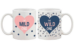 Polka Dot and Leopard Print BFF Mug- Mild and Wild One Best Friend Mug Cup - 365INLOVE