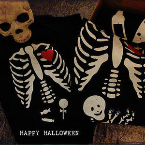 Funny Family Matching Shirts Daddy Mommy Baby X-Ray Halloween Shirt and Bodysuit - 365INLOVE