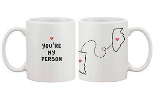 Personalized Long Distance Relationship Mugs for Couples Friends Family (MC035) - 365INLOVE