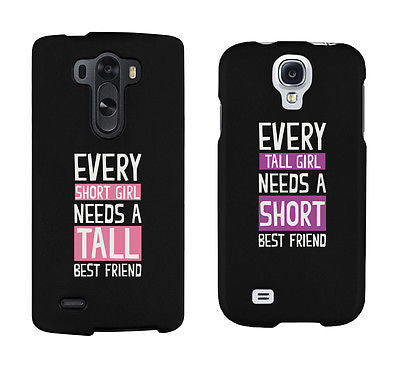 Short And Tall Cute Bff Matching Phone Cases For Best