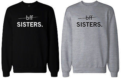 63c9184a9a5f Matching BFF Black and Grey BFF Sister Sweatshirts for Best Friends -  365INLOVE
