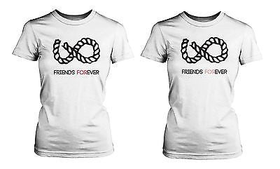 Sign Infinity Best Shirts White Cotton T Bff Matching Friend f7ygYb6