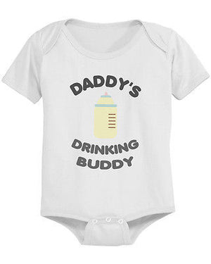 Daddy's Drinking Buddy Cute Baby Bodysuit - Pre-Shrunk Cotton Snap-On Style - 365INLOVE