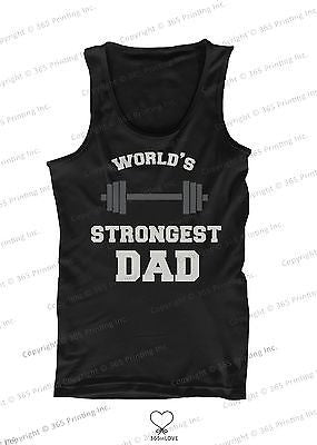 World's Strongest Dad Tank Top - Father's Day Gift Idea - 365INLOVE