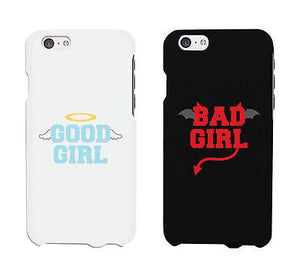 Bad Girl Good Girl White And Black Cute BFF Mathing Phone Cases Gift - 365INLOVE