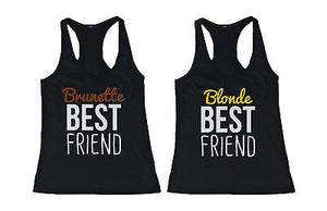 Cute Brunette and Blonde Best Friend Tank Tops - Matching BFF Tanks - 365INLOVE