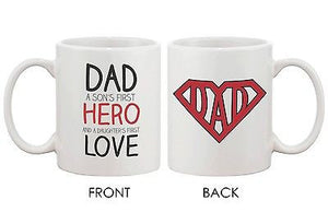 Coffee Mug for Father - DAD a Son's First Hero and a Daughter's First Love - 365INLOVE