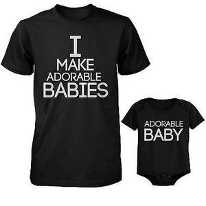 I Make Adorable Babies T-Shirt and The Adorable Baby Bodysuit Matching Set - 365INLOVE