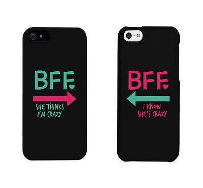 detailed look ac5a6 31b18 BFF Mint Pink Arrow Cute BFF Matching Phone Cases For Best Friends