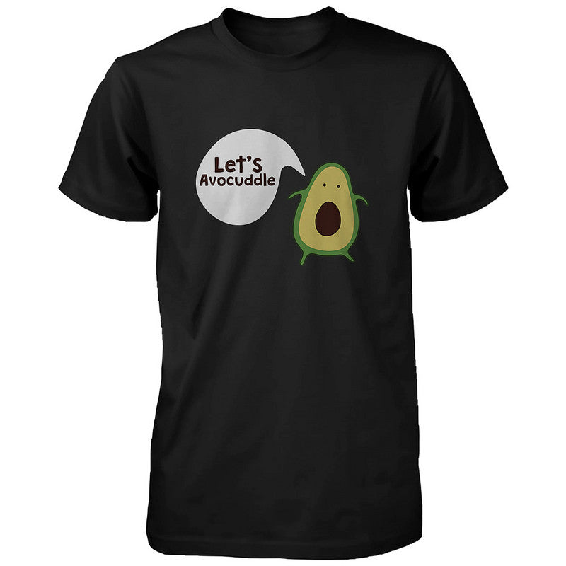 ac64fd676 Let's Avocuddle Cute Couple Shirts Matching Avocado Black Tshirts ...