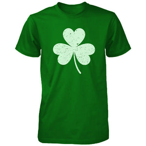 Distressed Shamrock Unisex Green Shirts Vintage Clover St Patricks Day Tees - 365INLOVE