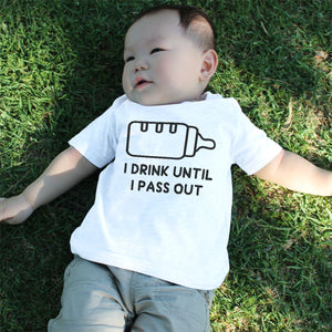Graphic Snap-on Style Baby Tee, Infant Tee - Drink Until I Pass Out - 365INLOVE