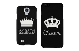 King and Queen Crown Matching Couple Phone Cases Gift for Couples - 365INLOVE
