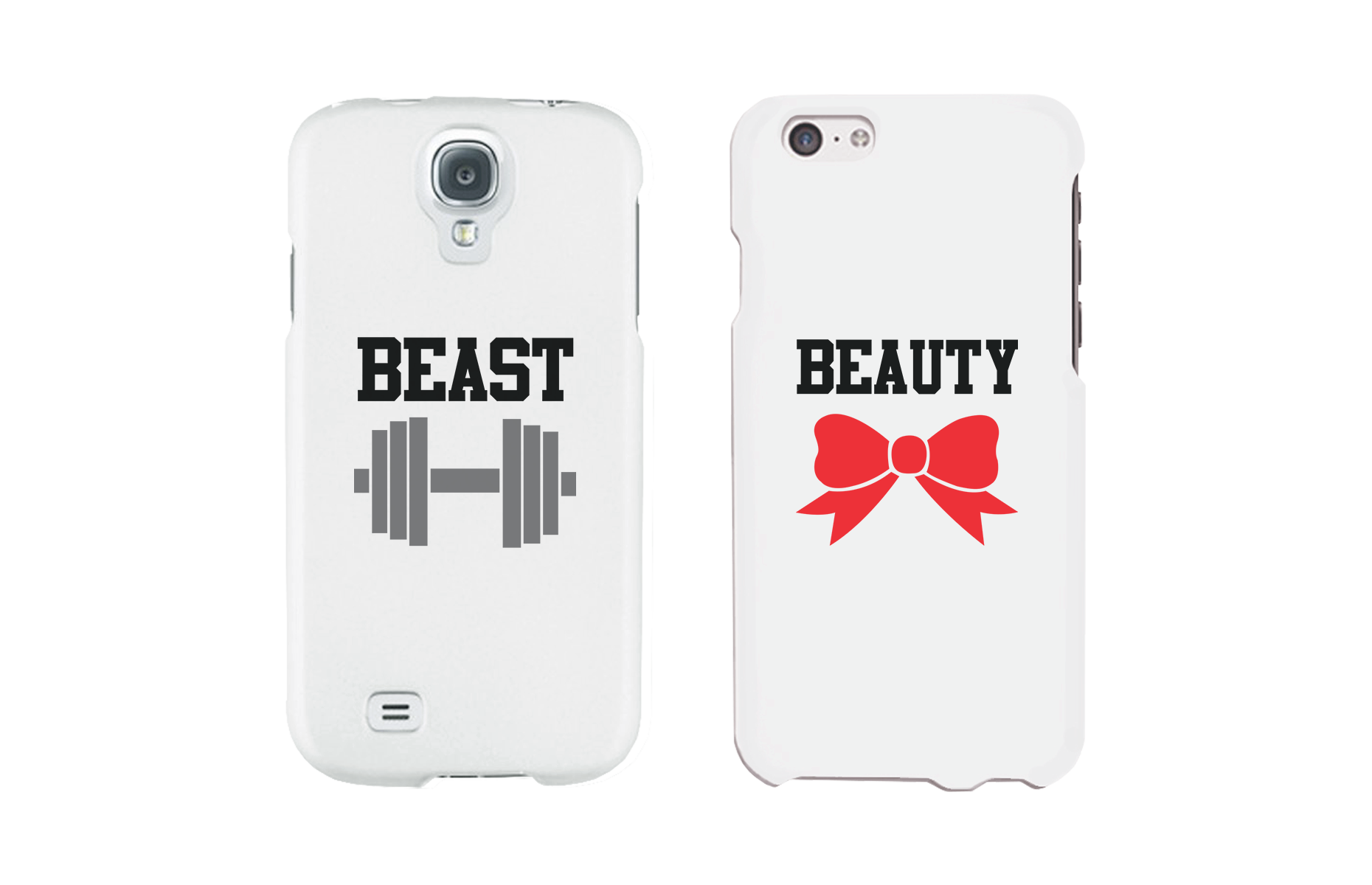 169575eaa9 Beauty and Beast Matching Couple White Phone Cases - 365 IN LOVE ...