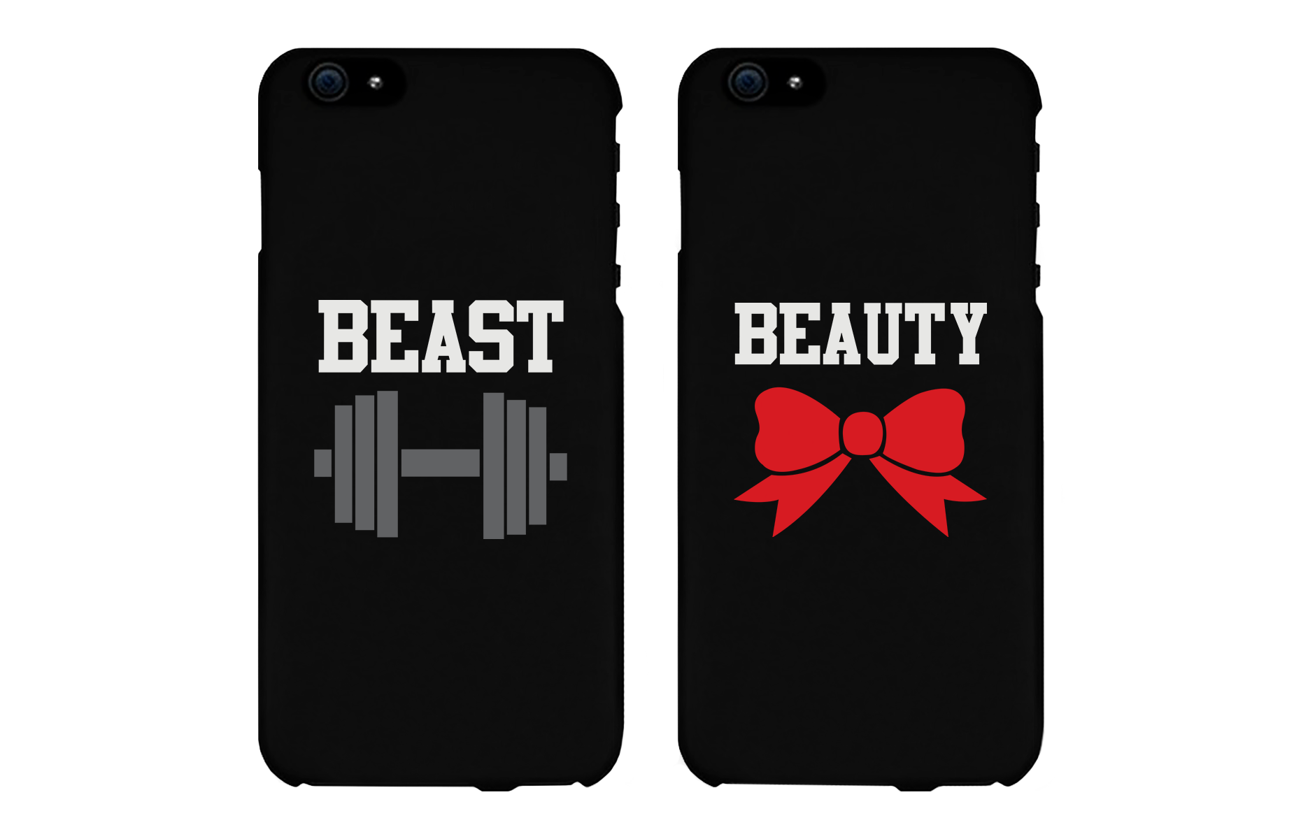 Beauty and Beast Matching Couple Phone Cases