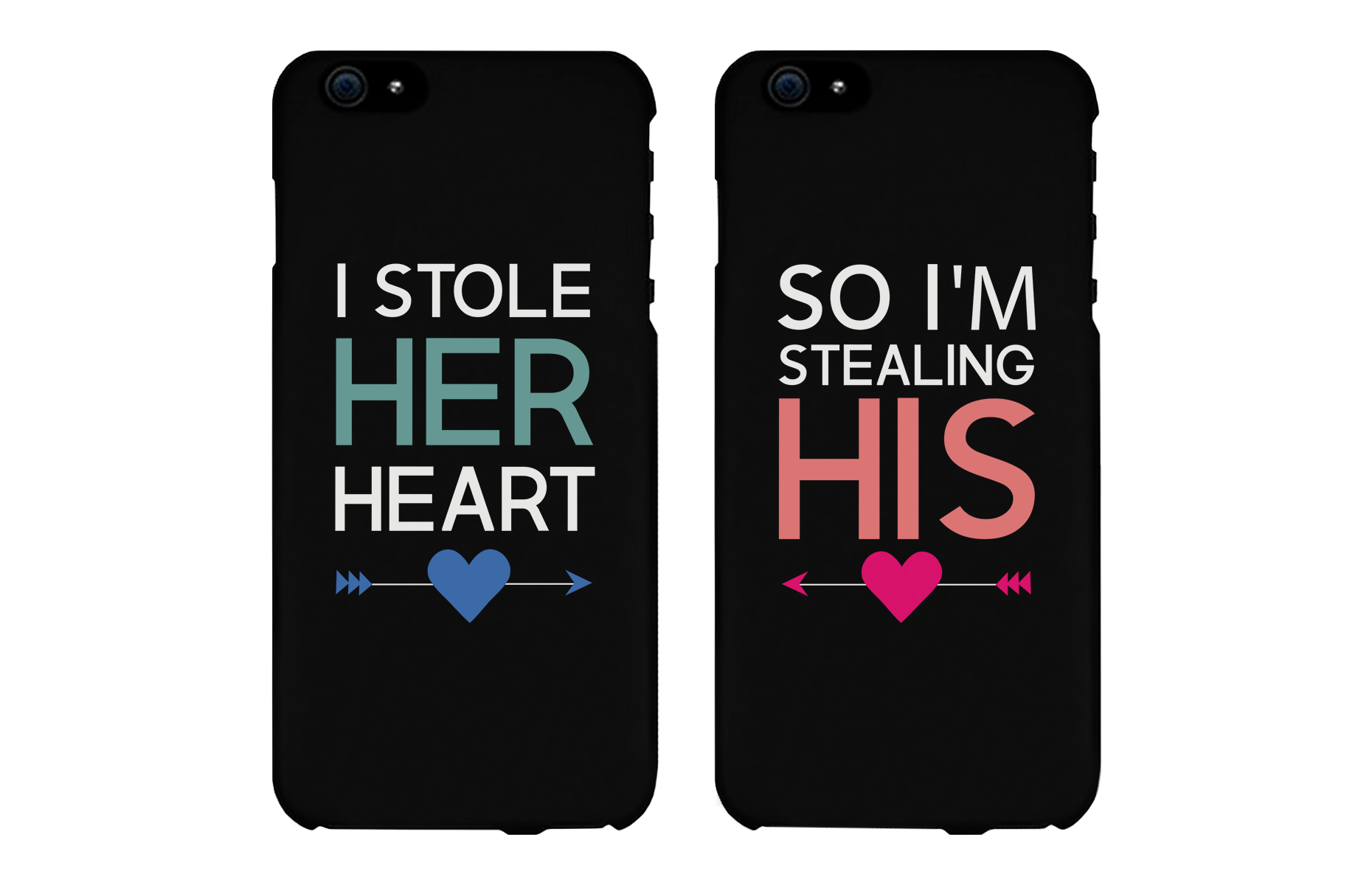 official photos 56147 9adfd I Store Her Heart, So I'm Stealing His Cute Couple Matching Phone Cases