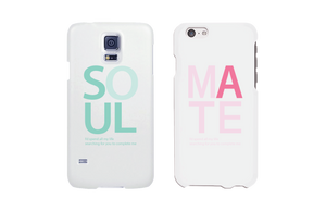 soul mate phone cases in white