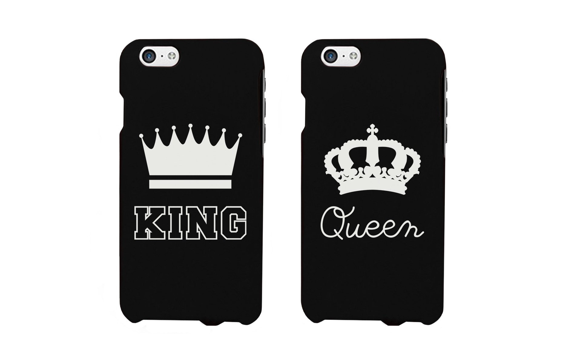 79325773 King and Queen Crown Matching Couple Phone Cases Gift for Couples -  365INLOVE