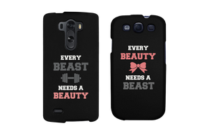 Every Beauty and Beast Black Matching Couple Phone Cases Gift cofr Couples - 365INLOVE