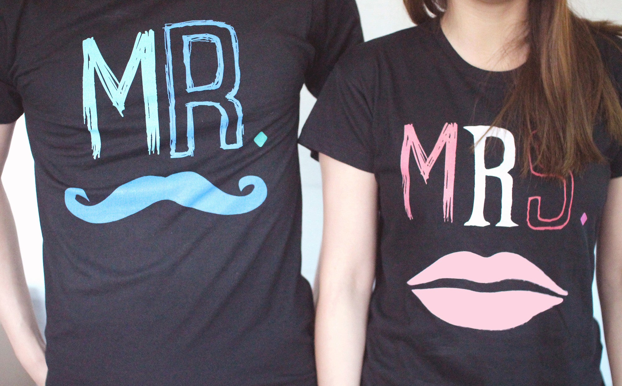 Shirt design for couples -  Mr Mustache And Mrs Lips Couple Tee