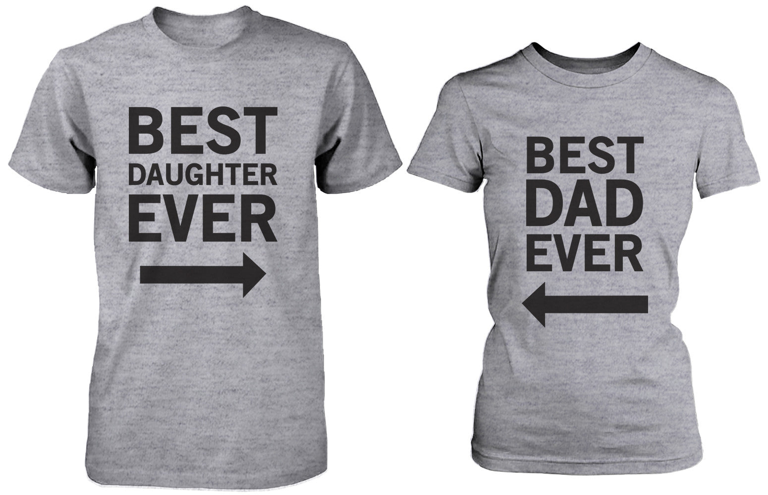 813b1187 Matching Grey T-Shirts Set For Dad and Daughter - Best Dad / Beast ...