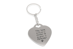 Love Between Mother n Daughter Forever Heart Shaped Key Chain Gift for Mom - 365INLOVE