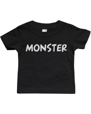 Daddy and Baby Matching Black T-Shirt / Bodysuit Combo - I've Created A Monster