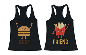 Burger and Fries BFF Tank Tops Best Friend Matching Tanks Sleeveless Shirts - 365INLOVE