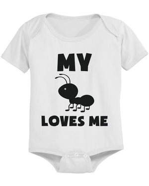 My Aunt Loves Me Funny Baby Bodysuits Gift for Niece or Nephew Infant Bodysuits - 365INLOVE